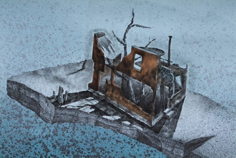 Blind Pig #1, 2010, Acrylic, graphite on paper, 59, detail