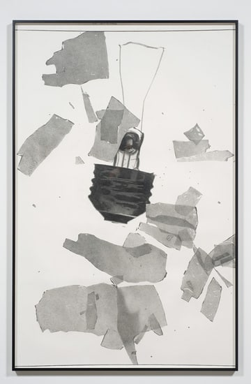 ": Beach Blanket Blues - Broken Bulb #2, 2009, pencil on paper, 77 x 52"" unframed; 81 1/4"" x 52 1/4"" framed"