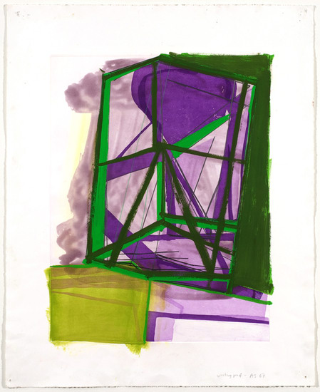 ": Untitled (#13), 2007, Gouache and colored pencil on etching on paper, 34"" x 28"" paper size; 36 ½"" x 30 ½"" framed"
