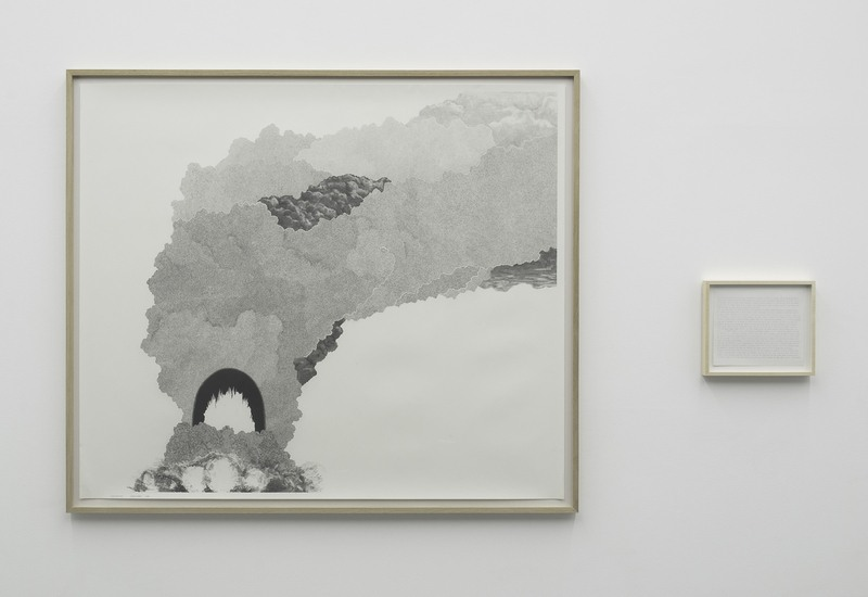 : Explosion #24, 2008, Graphite on paper, Diptych, 55