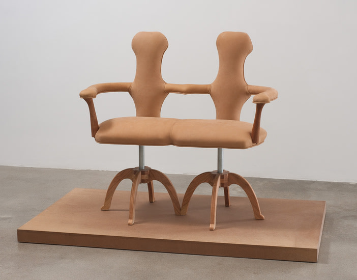 H., 2010, Leather, wood, steel