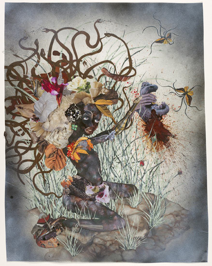 The bride who married a camel's head, 2009, Mixed media on mylar, 106,68 cm x 76,20 cm (42 x 30 inches)