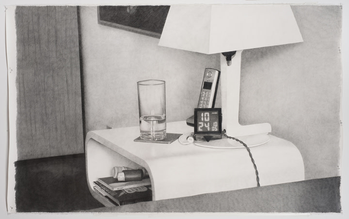 All the clocks in my house #7 (7:24), 2010, pencil on paper, 78