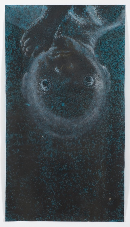 The Sea Baby, 2009, Acrylic, graphite on paper, 153 x 84 cm, Photocredit Lutz Bertram, Berlin