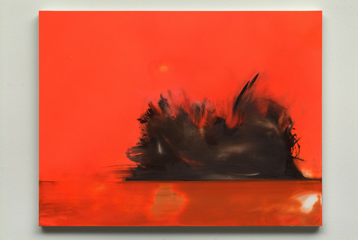 Untitled (orange / orange), 2009, Oil and ink on panel