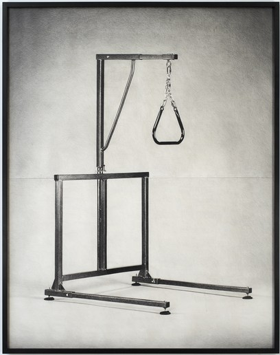 Untitled (hangman), 2007, pencil on paper, 90