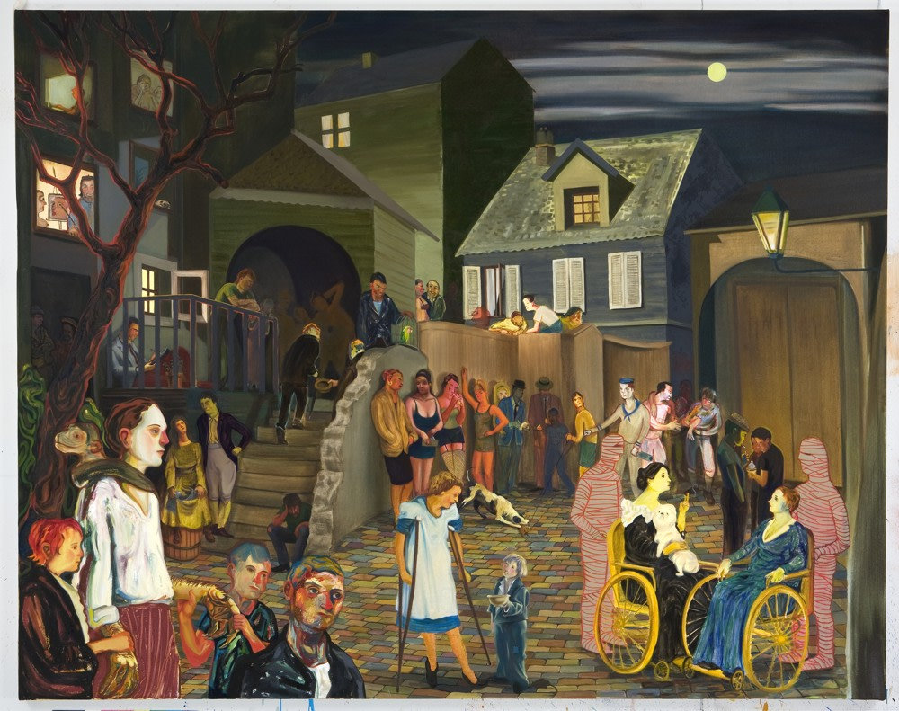 "Beasley Street, 2007, Oil on canvas, 65"" x 82"""
