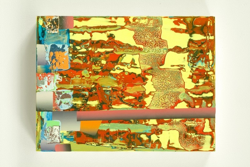 ": Untitled, 2007, Mixed media on panel, 12 1/4"" x 9 1/4"""