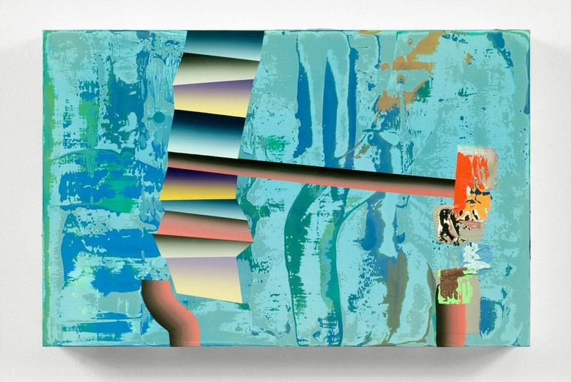 ": Untitled, 2007, Mixed media on panel, 11 1/4"" x 17 1/4"""