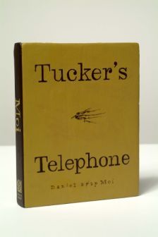 "Tucker's Telephone, 2006/2007, Acrylic on wood, 8.5"" x 6.75"" x 1.25"""