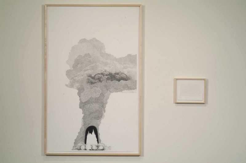 Explosion # 17, 2006, Pencil on paper, Diptych, 64