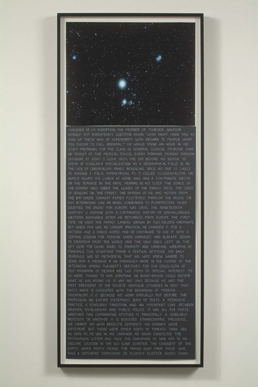 Randomized Text #3, 2006, digital print and color pencil on paper, Diptych, 54.5