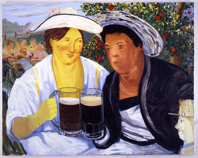 "Beer Garden, 2007, Oil on canvas, 65"" x 82"" (165.1 x 208.28 cm)"