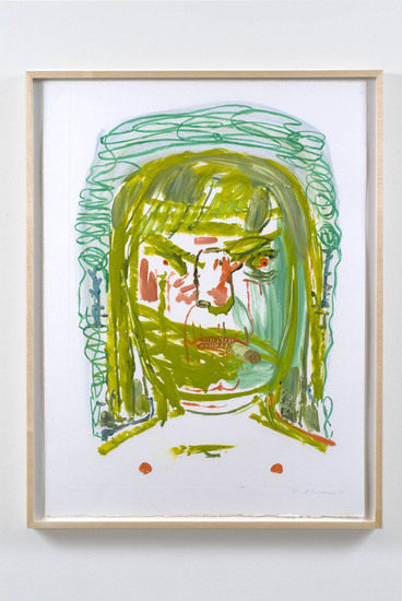 "Untitled, 2007, Monoprint on paper, 29 1/2"" x 22 1/2"" (frame 31 3/4"" x 24 1/2"")"