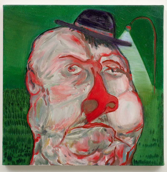 "German Guy, 2007, Oil on canvas, 11 ¾"" x 12"""