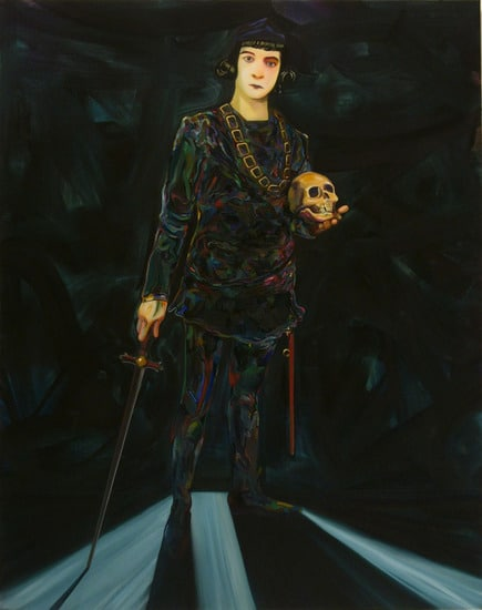 "Hamlet, 2007, Oil on canvas, 82"" x 65"" (208.28 x 165.1 cm)"