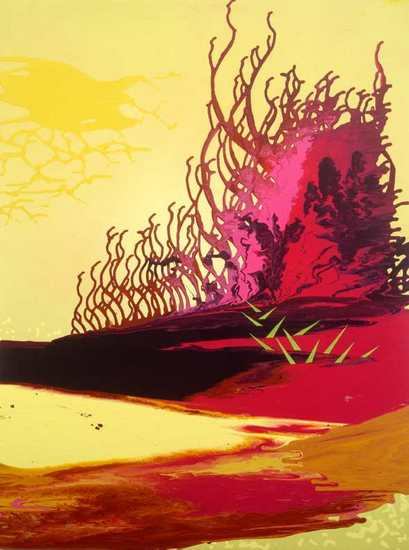 "Wasabi Sunset, 2006, Acrylic on canvas, 48"" x 36"""