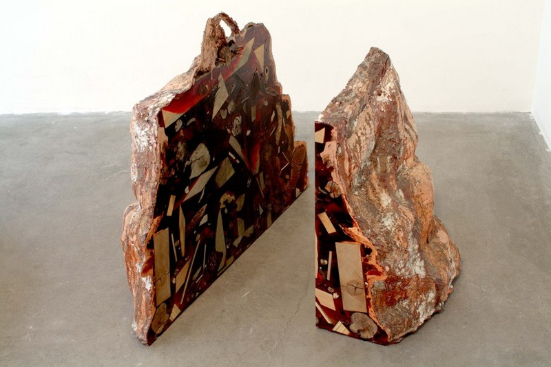 Red Wood, 2006, Resin, mixed media, Dimensions variable (3 Parts, detail)