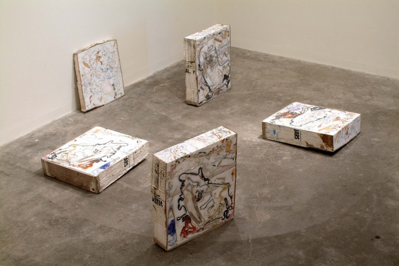 Untitled (White Domino), 2006, mixed media, Dimensions variable (5 Parts)