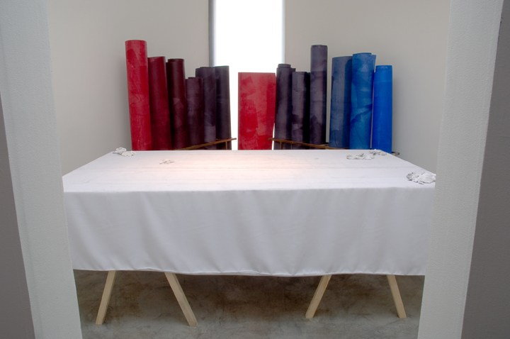 Constellation Drawings (Last Supper Room), 2008, Installation view