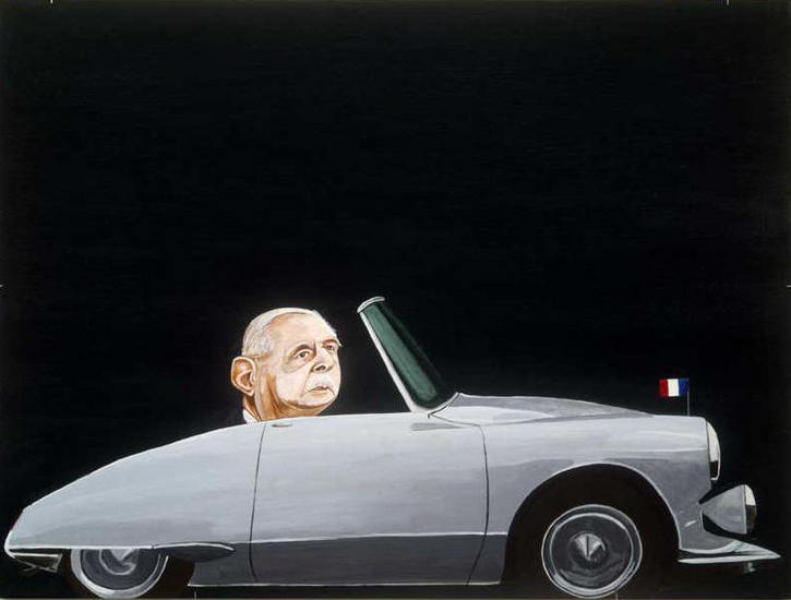 "The Procession (A Frenchman), 2006, Acrylic on museum board, 30"" x 40"""