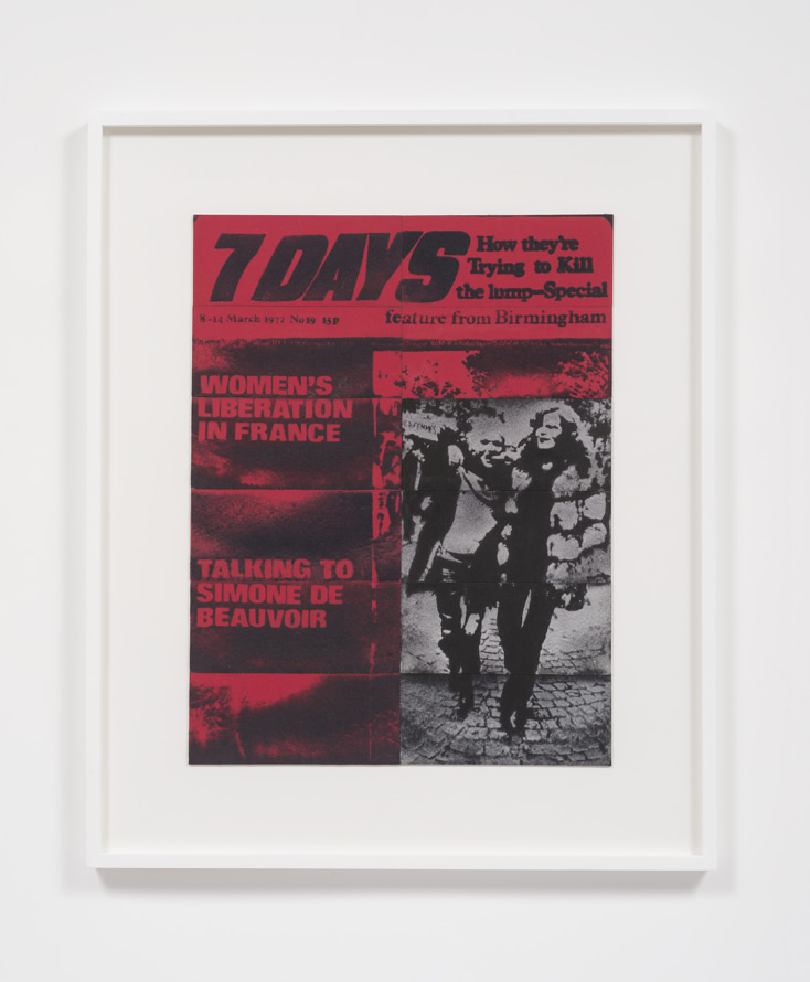 "7 Days, March, 1972, 2014, Compressed lint, 41"" H x 34"" W x 2"" D"