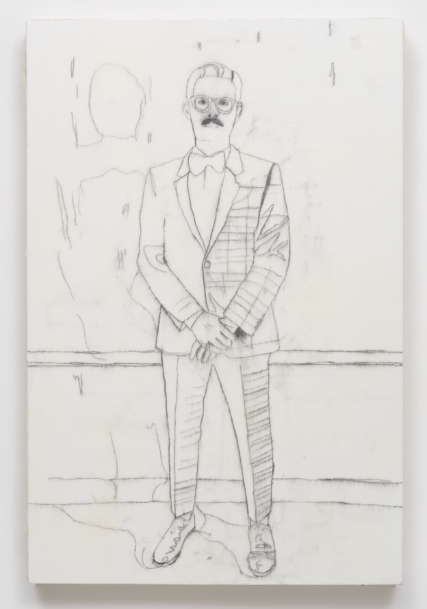 "Thomas Standing, 2016, Oil, graphite, cold wax on canvas, 36.50"" H x 24.50"" W (92.71 cm H x 62.23 cm W), Photo cred: Robert Wedemeyer"