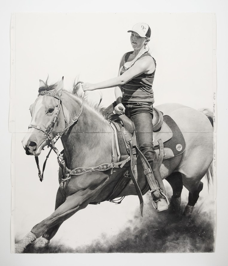 Rodeo 8, 2016, Pencil and graphite powder on paper, Photo credit: Jeff McLane, Photo credit: Jeff McLane