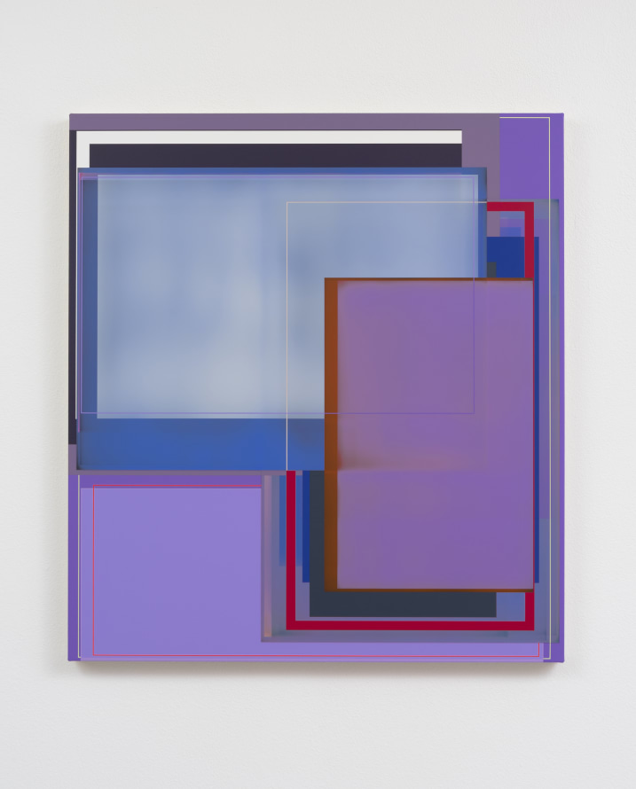 "Violet Return, 2017, Acrylic on canvas, 41 x 37"" [HxW], Photo credit: Robert Wedemeyer"