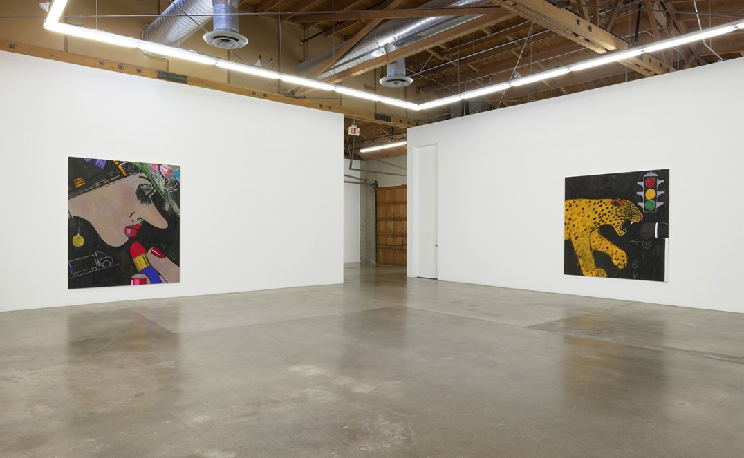 "Installation, ""Ellen Berkenblit: Paintings,"" Solo Exhibition at Susanne Vielmetter Los Angeles Projects, 2019, Photo credit: Robert Wedemeyer"