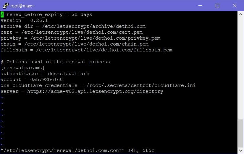 Cài đặt Let's Encrypt Wildcard SSL miễn phí tự động với CloudFlare - 5
