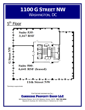 1100 g street nw 5th floor unit 535 vts for Vice president house floor plan