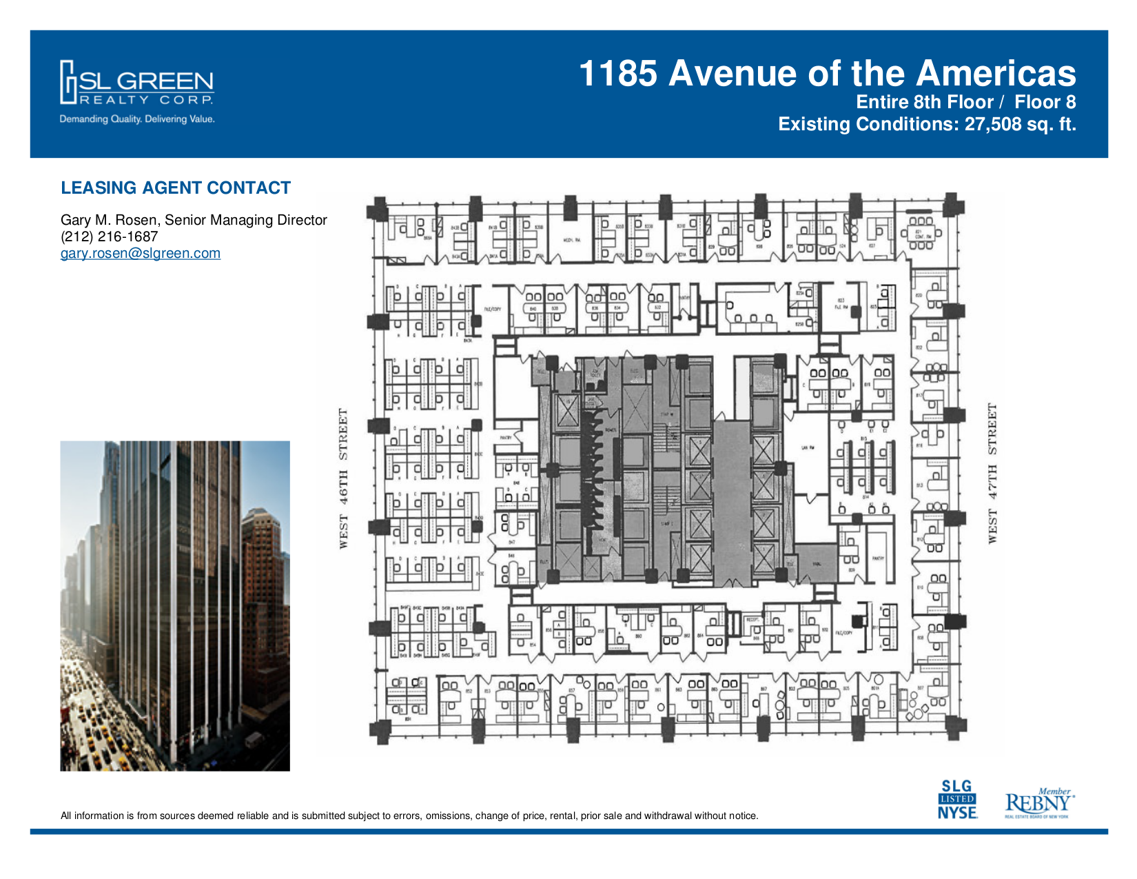1185 avenue of the americas 8th floor vts for Vice president house floor plan