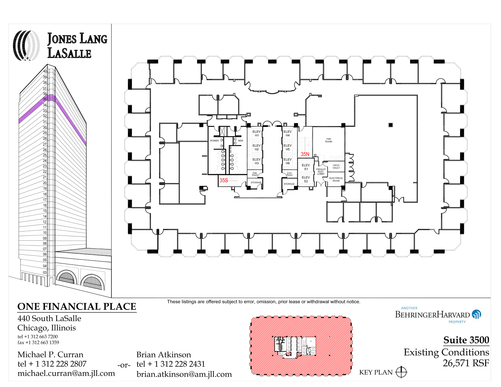 440 south lasalle 35th floor unit 3500 vts for Vice president house floor plan