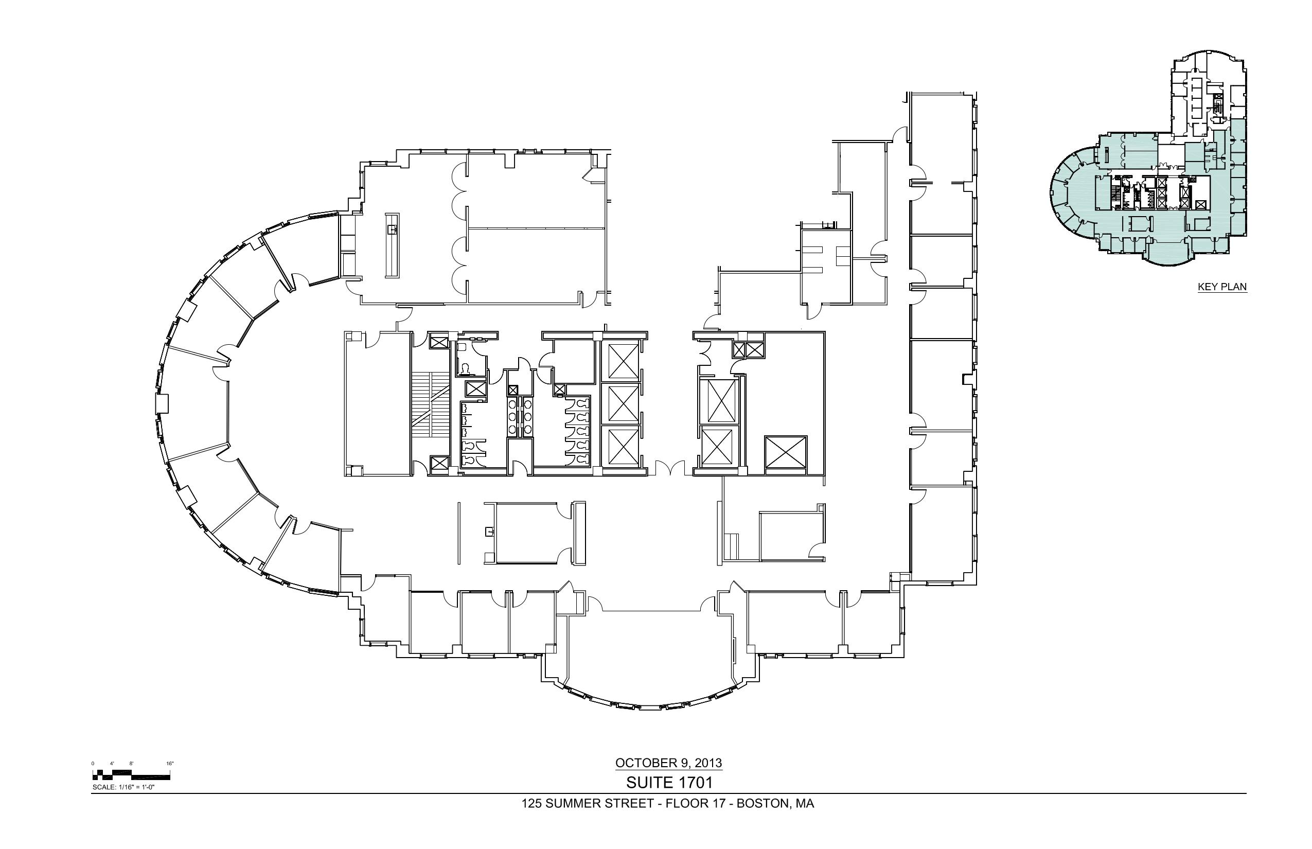 Floor plan for 17th floor concert schedule