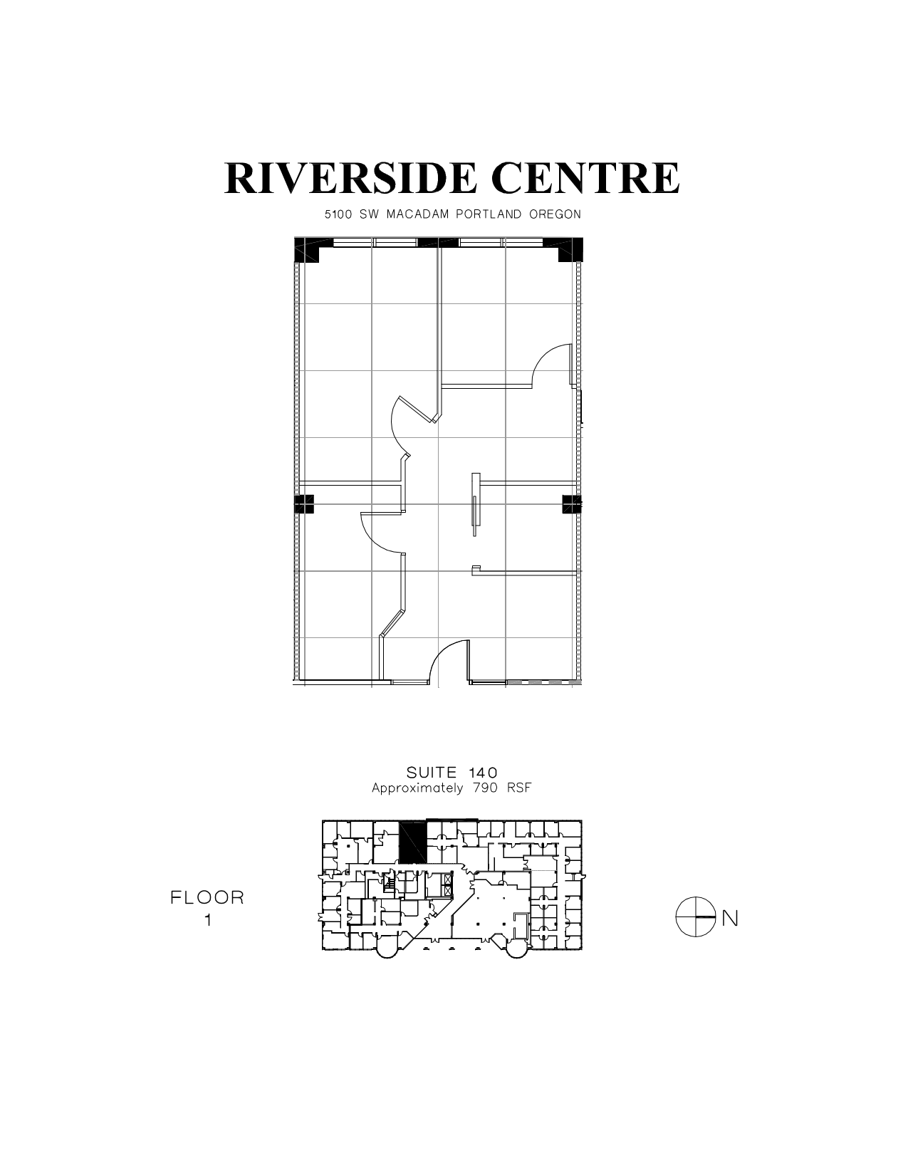 Riverside centre 5100 sw macadam avenue 1st floor unit for Vice president house floor plan
