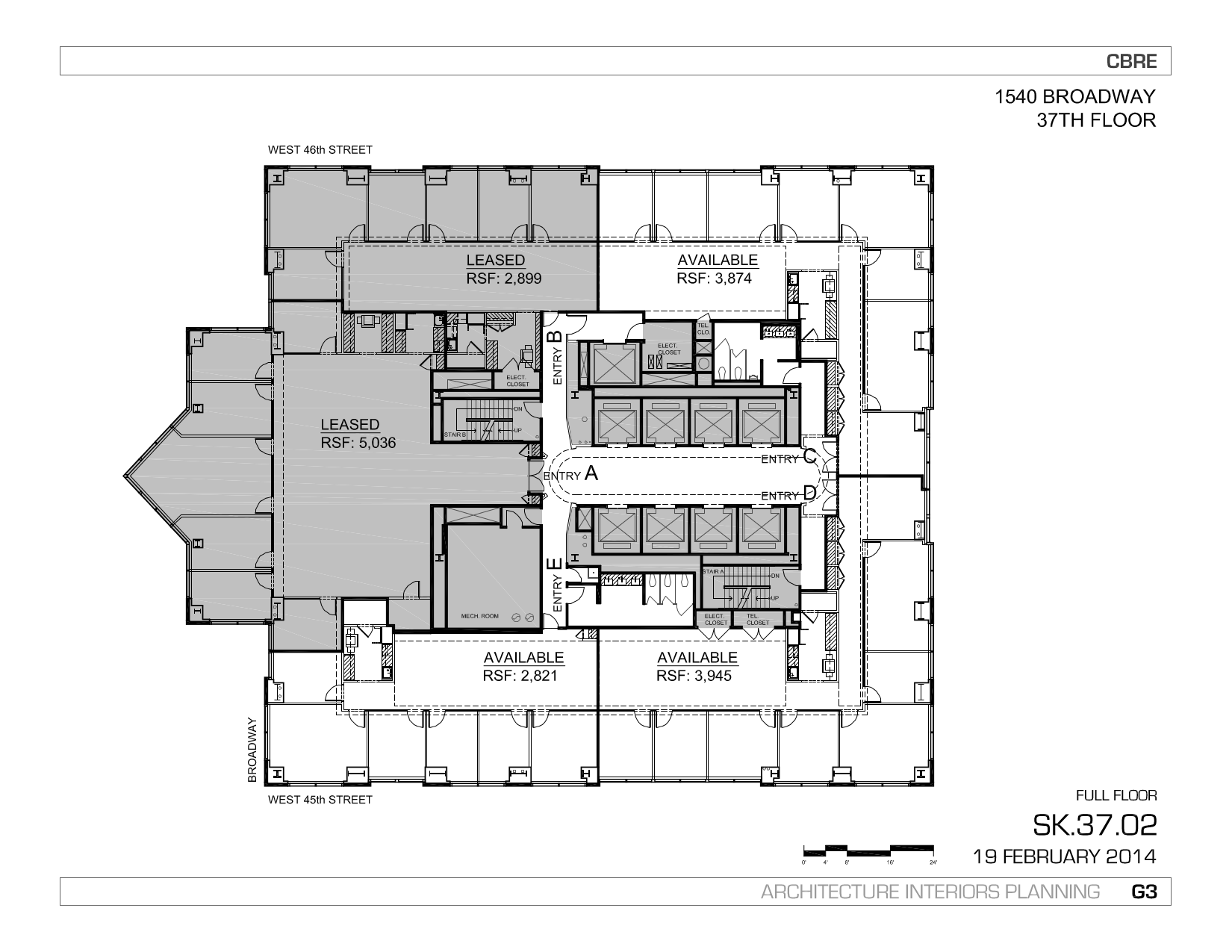 1540 broadway 37th floor vts for Broadway plan