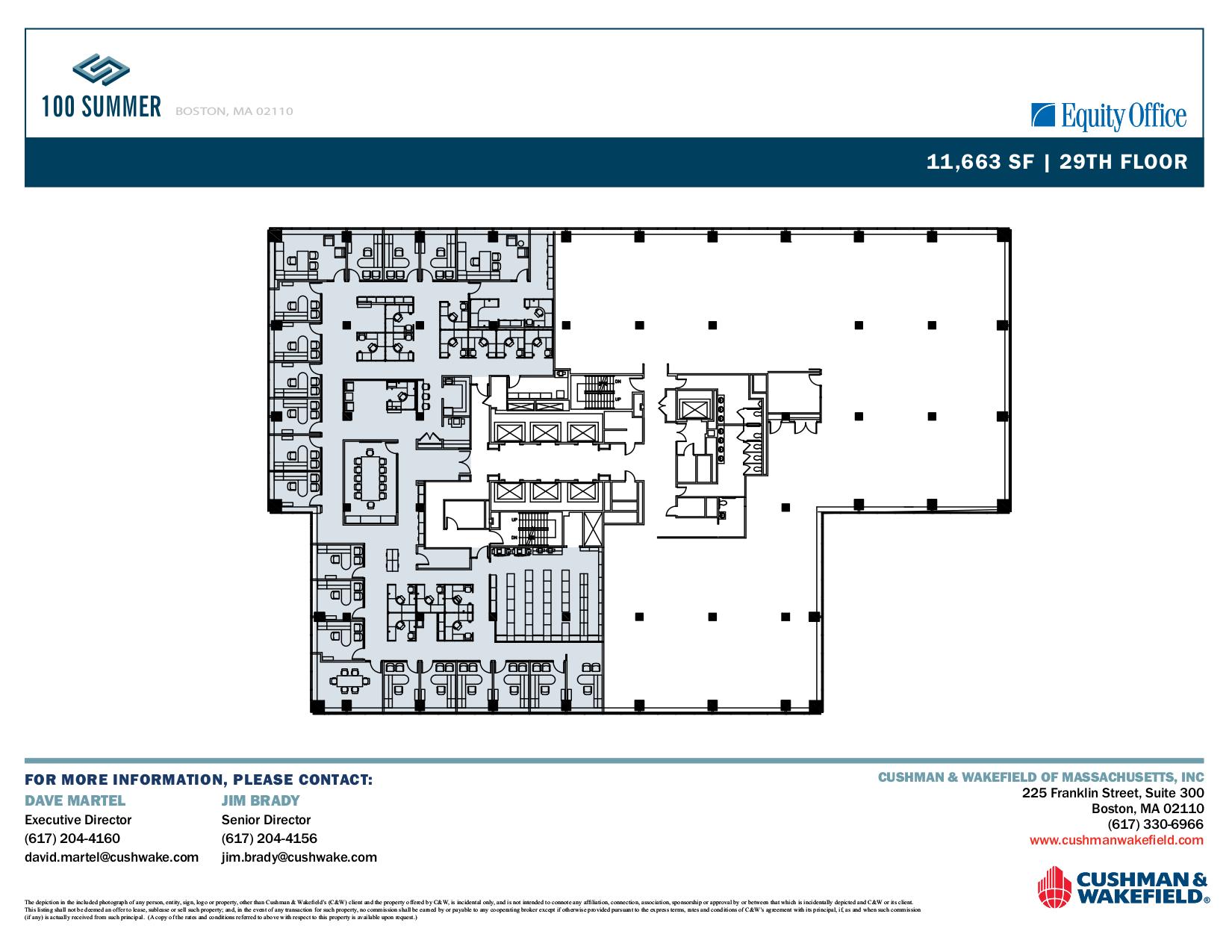 100 summer street 29th floor suite 2900 vts for 100 floors 29th floor