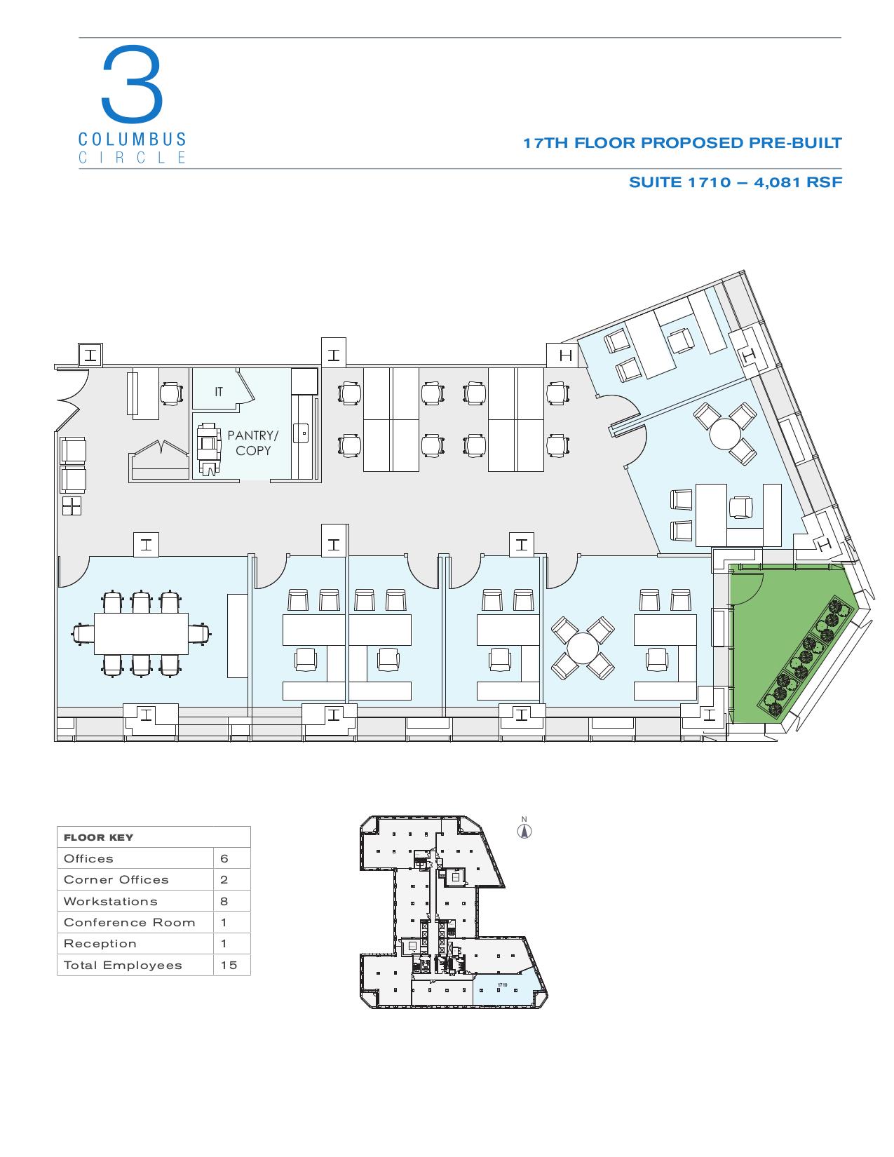 3 columbus circle 17th floor unit 1710 vts for 10 columbus circle 4th floor new york ny 10019