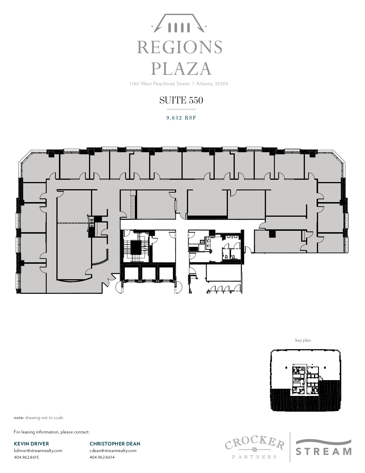 Regions plaza 1180 w peachtree street 5th floor unit for Vice president house floor plan