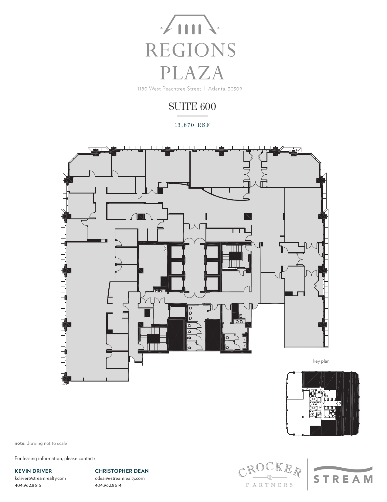 Regions plaza 1180 w peachtree street 6th floor vts for Vice president house floor plan