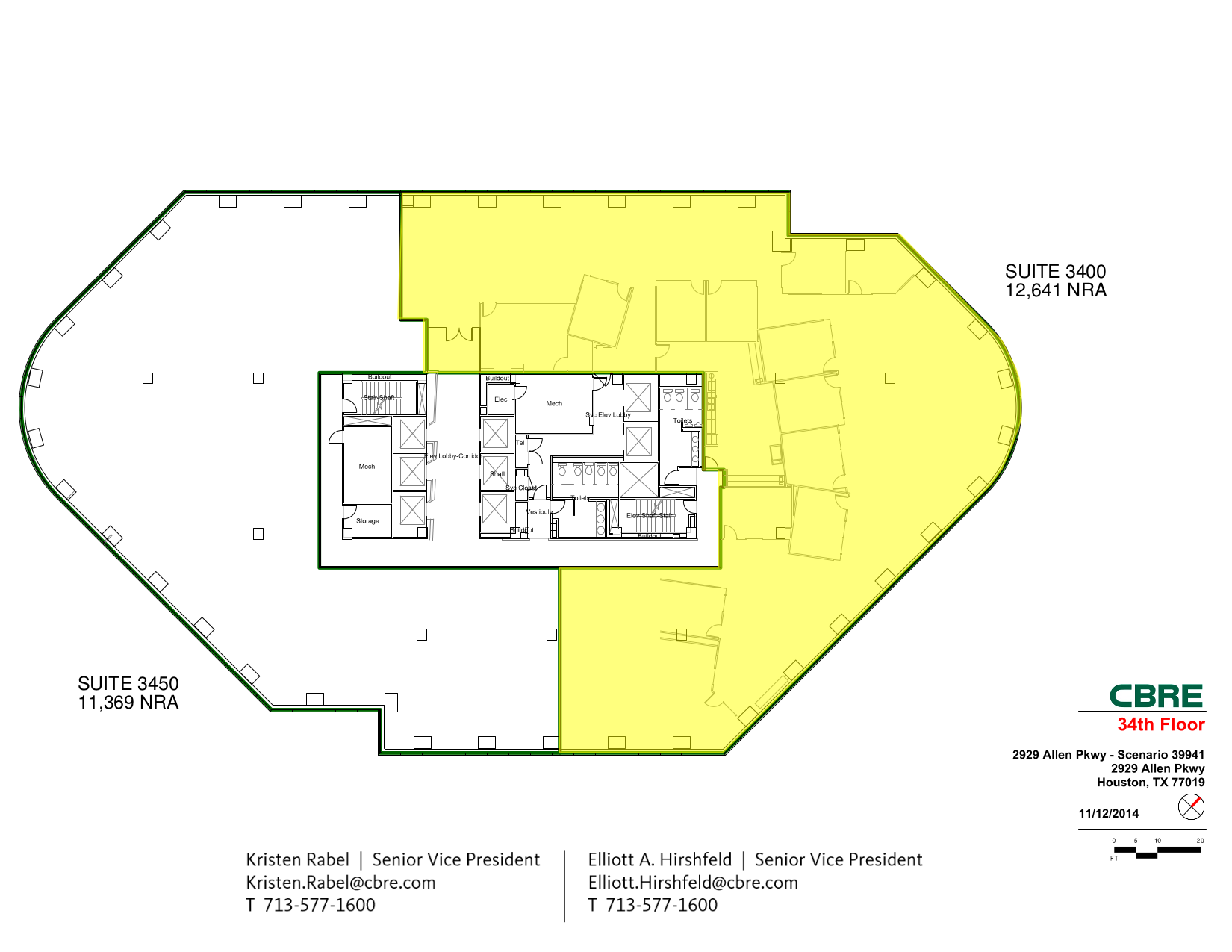 America tower 2929 allen pkwy 34th floor unit 3400 vts for Vice president house floor plan