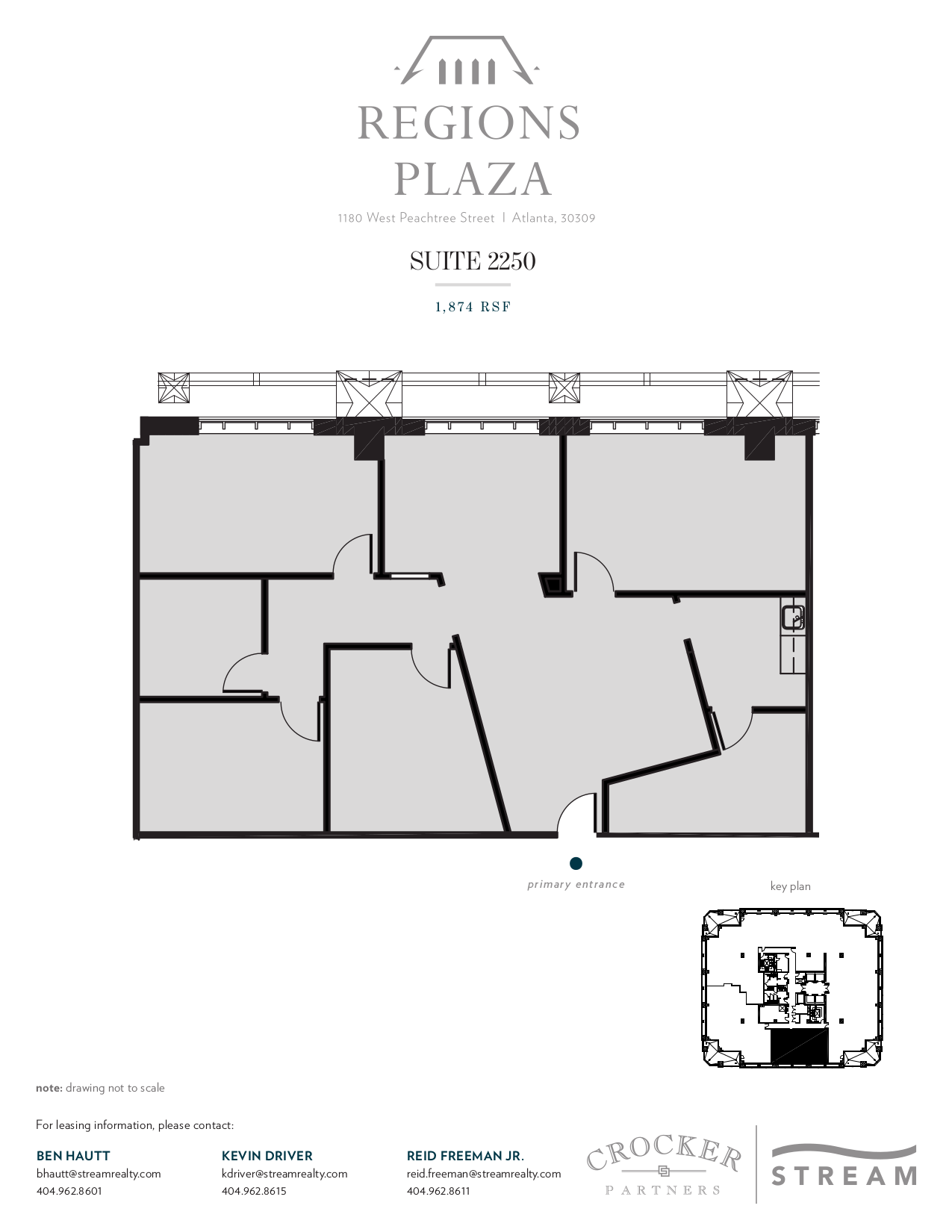 Regions plaza 1180 w peachtree street 22nd floor unit for Vice president house floor plan