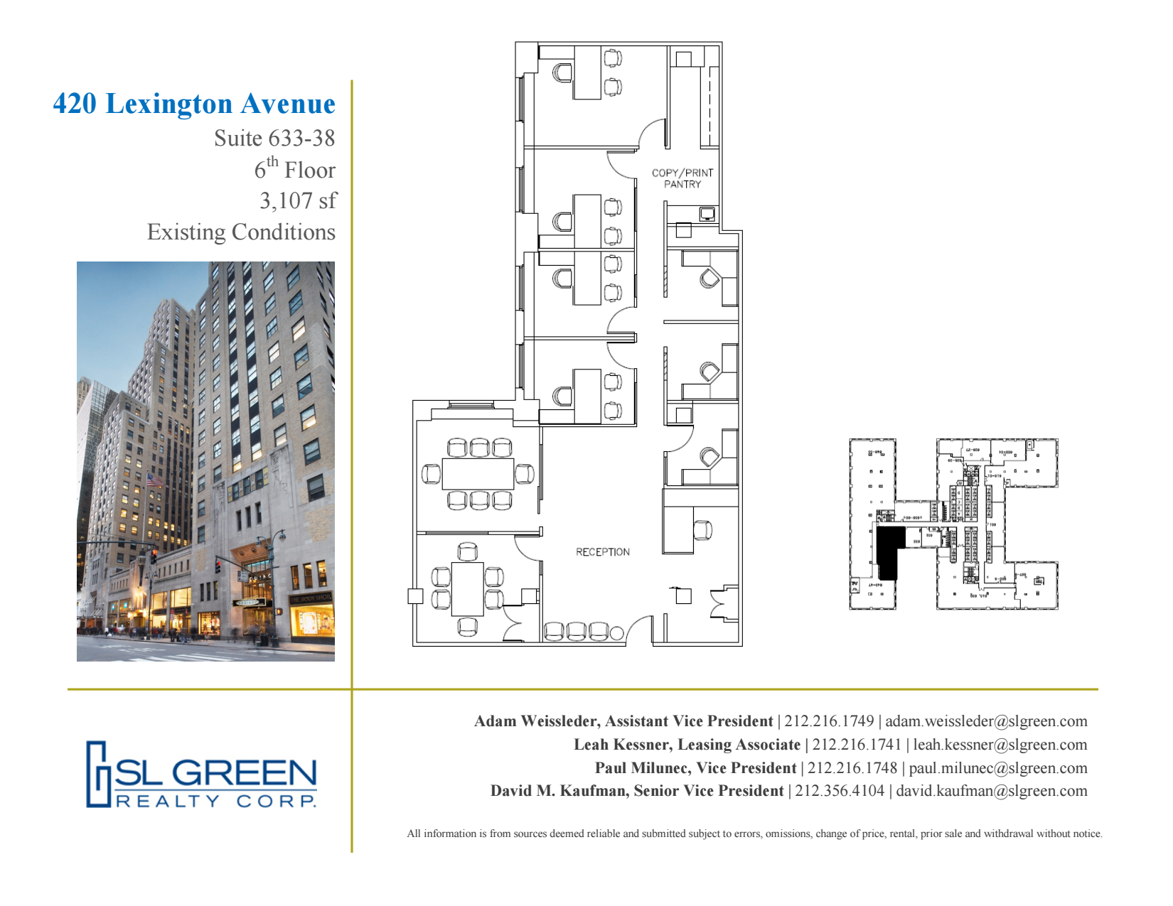 Graybar Building 420 Lexington Avenue 6th Floor Unit 633 38 Vts Diagram 3 Sixth Layout Plan