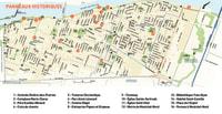 Localisation des 16 panneaux d'interprétation historique