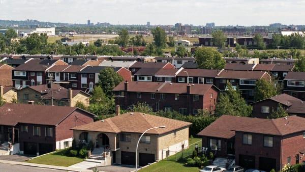 Le quartier Marlborough dans l'arrondissement Saint-Laurent à Montréal.