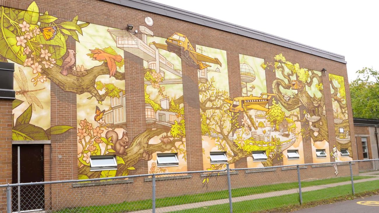 Murale L'école de l'avenir