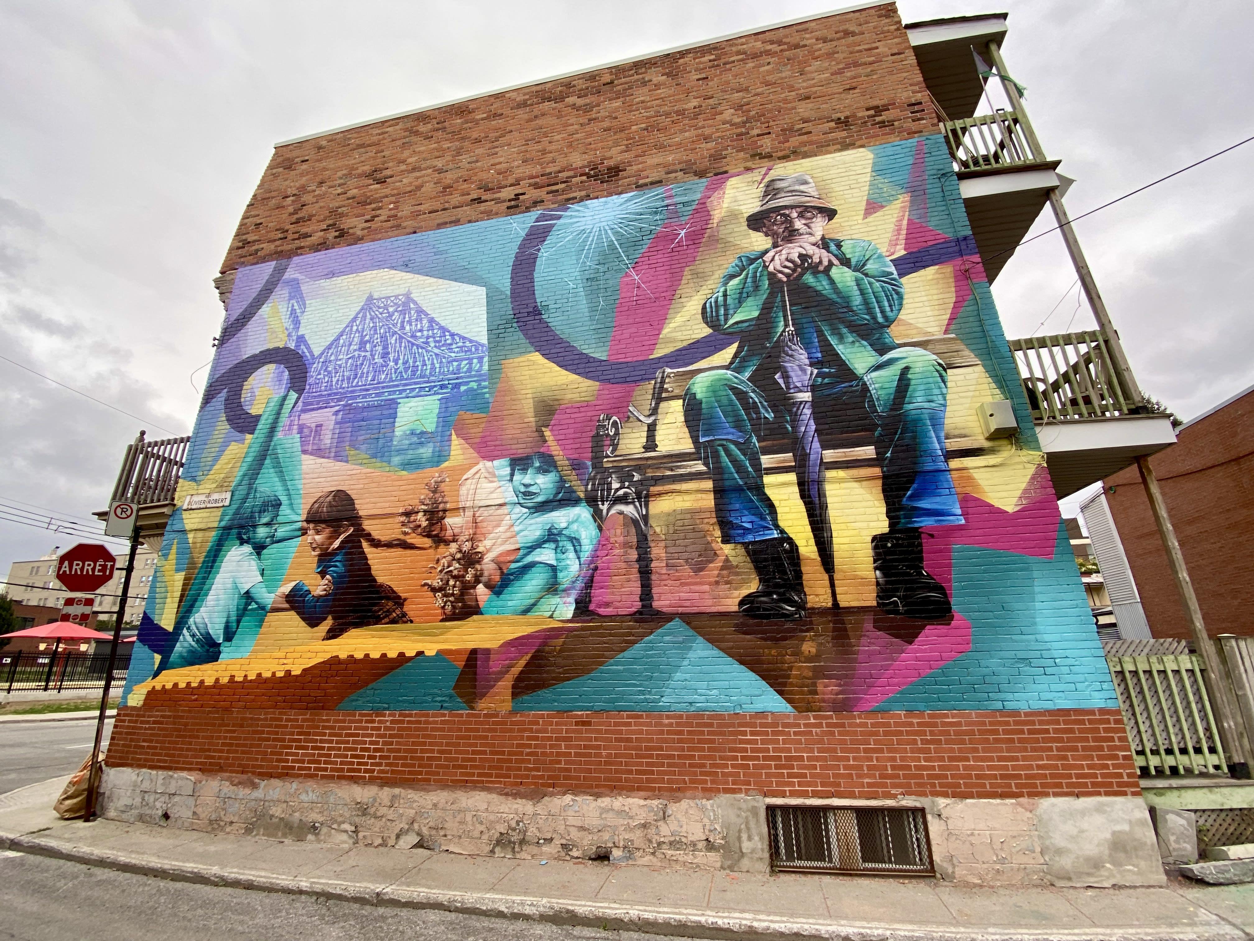 Murale Bonheur de quartier