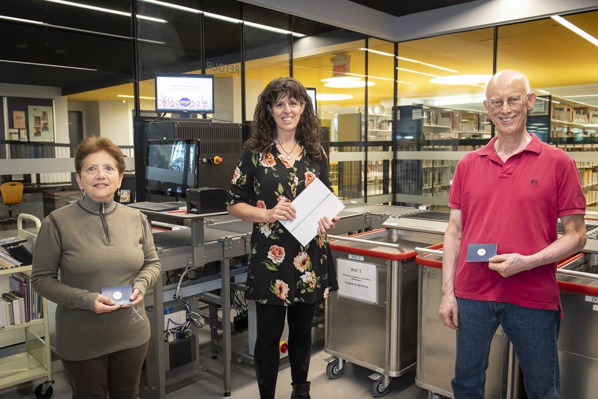 Mme Prince, Mme Lacroix-Brisson et M. Villeneuve, trois des cinq gagnants du concours