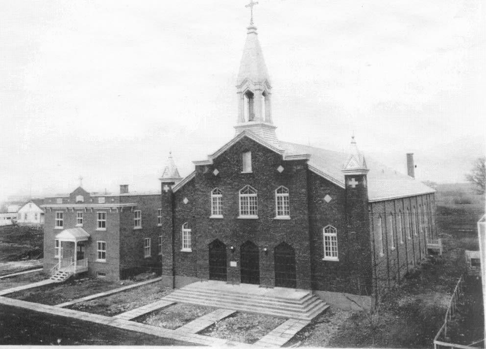 Église Sainte-Gertrude vers 1930